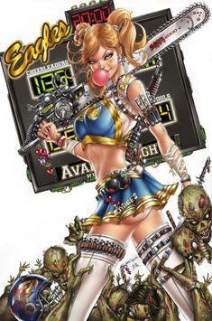 ☆ Cheerleader vs Zombies :¦: Lines Artist: Jamie Tyndall :¦: Colors Artist: Ula Mos ☆