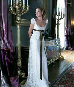 Modern regency style wedding dress