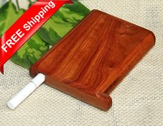 Exquisite Rosewood Cigarette Box with Slide Lid Handcrafted Cigarette Case Wooden Box Supply