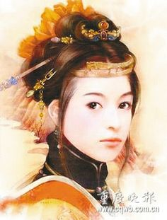 Qin Liangyu, famous heroine of the late Ming Dynasty, describing her as brave, clever, and an excellent horsewoman and archer. She led a troop known as the 'white pole army'.