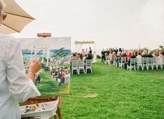 21 Insanely Fun Wedding Ideas - Have an artist paint your ceremony #wedding #funweddingideas #creative