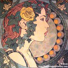 Art Nouveau Patterns Designs | Art_Nouveau_Ivy_Portrait_by_enchantedgal