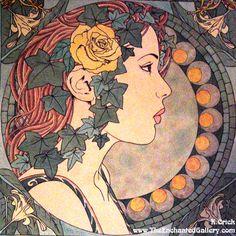 Art Nouveau Patterns Designs   Art_Nouveau_Ivy_Portrait_by_enchantedgal