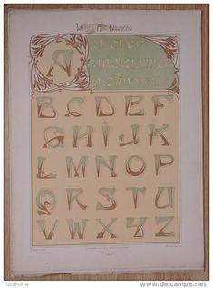 Lettres et Enseignes Art Nouveau - 1ère Série - Etienne Mullier (1900) - Pl 14 Lettres cunéiformes (en forme de clous)