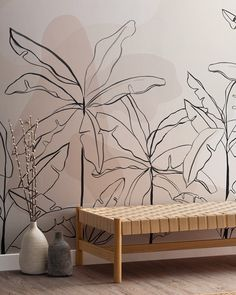 """MuralsWallpaper on Instagram: """"Our new Inky Tropicals collection has landed. 😎 This mural is a sneak peek, but you can head over to our store homepage now to see all of…"""" 3d Wall, Wall Wallpaper, Girls Bedroom, Wall Murals, Design, Internet, Wallpapers, Boutique, Store"""