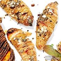 Garlic + Parmesan Hasselbacked potatoes EveryDay with Rachael Ray, Apr ...