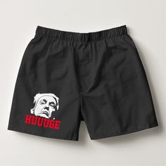 Shop Donald Trump Huuuge Boxers created by WRAPPED_TOO_TIGHT. Funny Boxer, Short Socks, Boxers, Donald Trump, Unisex, Mens Fashion, Swimwear, Cotton, Diy Funny
