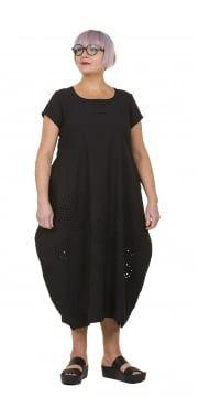 Black Laser Cut Dress
