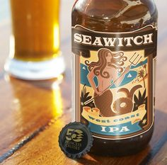 Seawitch West Coast IPA a India Pale Ale (IPA) beer by Strike Brewing Company, San Jose, California.