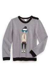 LITTLE MARC JACOBS Graphic Knit Sweater (Toddler Boys, Little Boys & Big Boys)