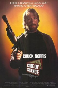 CODE OF SILENCE - 1985 - Original Rolled 27x40 Movie Poster - CHUCK NORRIS