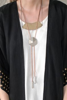 LUV AJ pyramid bolo tie necklace from Spanish Moss Tassel Necklace, Arrow Necklace, Necklaces, Western Chic, Bolo Tie, Cowgirl Style, Indie Fashion, Modern Jewelry, Body Jewelry