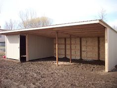 Horse Shed, Horse Barns, Horses, Goat Shelter, Horse Shelter, Building A Chicken Coop, Building A Shed, Tractor Shed Ideas, Pole Barn Plans