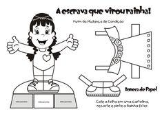 20 Atividades Bíblicas sobre Ester para Colorir e Imprimir - Online Cursos Gratuitos Comics, Memes, Paper Puppets, Colouring In, Activities, Christianity, Ideas, Meme, Cartoons