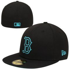 New Era Boston Red Sox Nylo Vize 59FIFTY Fitted Hat - Black