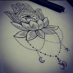 Hamsa tattoo                                                                                                                                                                                 More