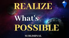 Realize What's Possible/Subliminal / Nothing Is Impossible Sleep Affirma. Subconscious Mind, Heart And Mind, Motivate Yourself, Good Vibes, You Can Do, How To Fall Asleep, Affirmations, Mindfulness, Wisdom