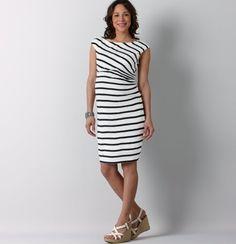 Maternity Stripe Cap Sleeve Dress