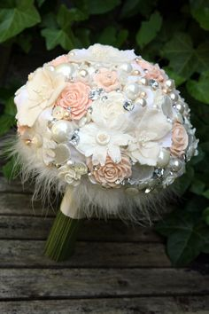 Vintage style Artificial Silk Heirloom Bridal by bcomberscards, $120.00