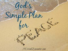 Insightful post exploring God's plan for peace. (Philippians 4:6-7)  http://adivineencounter.com/monday-minute-peace