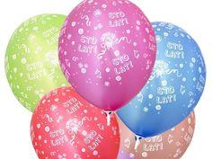 """Balon lateksowy 12"""" (30 cm) z nadrukiem Sto lat. Doskonała dekoracja na przyjęcie z okazji urodzin."""
