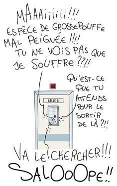 © Nathalie Jomard Humour accouchement
