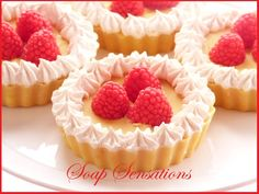 Here are a few of my latest Yummy Dessert Soaps   Adeliciousselection of mouth watering cheeseca...