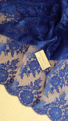 3b3c6d871fe3 Royal blue lace fabric by the yard