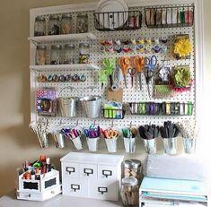 craft room organization, craft supplies storage