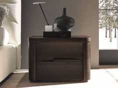 Ash bedside table with drawers by SMA Mobili Center Table, A Table, Side Tables Bedroom, Bedside Tables, Shelf Board, Night Table, Cabinet Furniture, Tv Cabinets, Ceiling Lamp