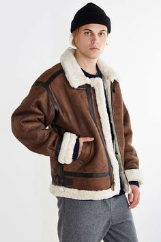 Alpha Industries B-3 Sheepskin Bomber Jacket