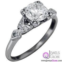 Celestina diamond rose cut engagement Ring