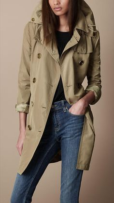 Burberry - MID-LENGTH TECHNICAL FABRIC TRENCH COAT