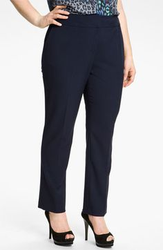 Vince Camuto Slim Leg Crop Pants (Plus) available at Nordstrom