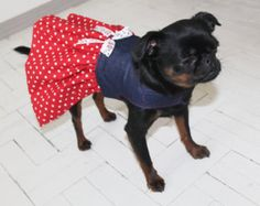 Polka Dot Dog Dress - double Sided - Cotton Top - Dog Dress - Dog Clothing - Pet Clothes - Available to Any Breed