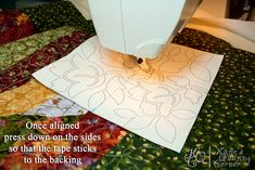 Blogged here: katiesquiltingcorner.com/2012/04/how-to-quilt-using-your-...