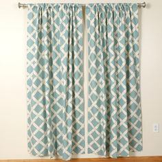 $55.50 The Pillow Collection Key West Rod Pocket Curtain Panels