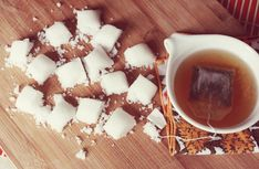 Make your own sugar cubes. Adding flavoring, food colors, and/or fresh herbs/edible flowers to make it your own!