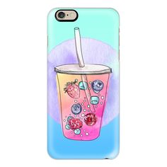 iPhone 6 Plus/6/5/5s/5c Case - Summer drink ($40) ❤ liked on Polyvore featuring accessories, tech accessories, phone, phone cases, phonecase, iphone case, iphone cover case, apple iphone cases and iphone cases