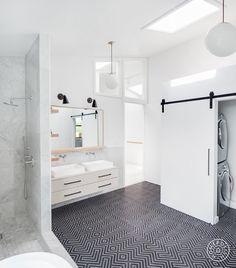 Homepolish designer Alice Cheng tells us how she renovated three geometric, minimal, ultra-modern baths in Los Angeles' Mt. Washington oasis of a neighborhood.