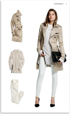 Women's Apparel: Pants Dresses Jeans Sweaters Suits Skirts Blouses & J - Women Trench Coats - Ideas of Women Trench Coats - Women's Apparel: Pants Dresses Jeans Sweaters Suits Skirts Blouses & Jackets Banana Republic Outfits, Banana Republic Women, Trench Coat Outfit, Coat Dress, Fashion Looks, Work Fashion, Fashion 2017, Fashion Online, Fashion Trends