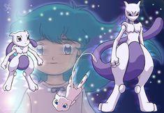 Ai and Mewtwo by Merinid-DE on DeviantArt Cute Pikachu, Cool Pokemon, Pokemon Deoxys, Powerful Pokemon, Mew And Mewtwo, Kingdom Hearts Anime, Pokemon Red Blue, Deadpool Pikachu, Purple Cat