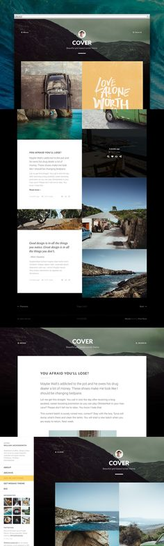 Cover tumblr theme. Tumblr Themes. $49.00