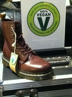 Dr. Martens Vegan Boot. This is SO COOL! I LOVE my Docs and I love veganism. Now I can have the best of both worlds. FYI: I still wear leather as a vegan. I don't wear cashmere or fur. I've only purchased one leather item (a pair of Docs, actually!) since becoming a full-fledged vegan and everything else that I have that is made of leather I had before I converted. The only other leather thing that I got since becoming a vegan was a jacket that I got as a gift from my husband.