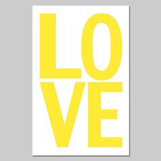 LOVE  13 x 19 Large Scale Modern Typography Print  Red by Tessyla, $30.00