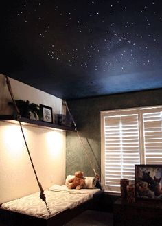 What about painting the ceiling with dots of uv paint so out glows like stars at night?