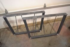 Steel Tapered Table/Desk/Bench Legs W/ Rebar Posts by EConWelding