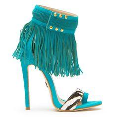 Emily B. for ZigiNY TAINA Sandal in Turquoise at FLYJANE
