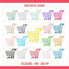 Shopping Car clipart, GROCERY Cart clip art, shopping car shopping basket icon, shopping icon by OHODIGITAL on Etsy