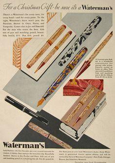 1930 Waterman's Fountain Pen Ad ~ Lady Patrician, Patrician